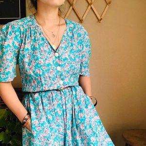 ⌈Vintage⌋ Carol Anderson Floral Country Dress